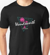 Retro 80s Neon 'Wandsworth' Vintage London Unisex T-Shirt