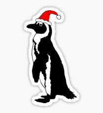 Pegatina Pingüino africano con sombrero de santa