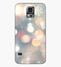 Blue Christmas Case/Skin for Samsung Galaxy