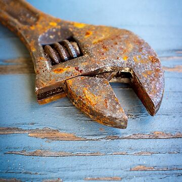 Old Rusty Adjustable Wrench by ezumeimages