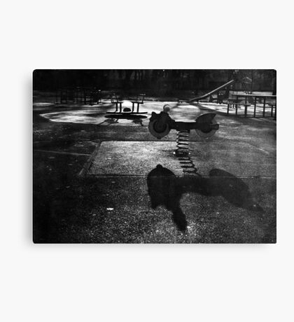 Playground in The Winter Sun Canvas Print