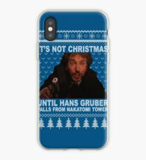 falling hans ugly sweater iPhone Case