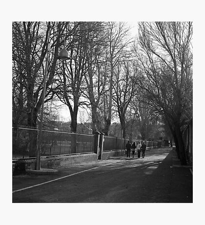 Family Walking In The Winter Sun Photographic Print