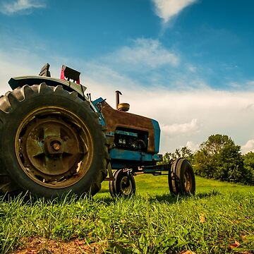 Tractor Summer Farm by ezumeimages