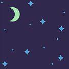 Purple Lunar Night Sky Pattern by alienfolklore