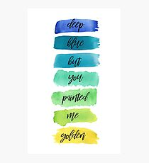 dancing with our hands tied lyrics Photographic Print