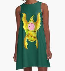 Baby cocoon #3 Green leaf earth tone Chrysalis newborn baby  A-Line Dress