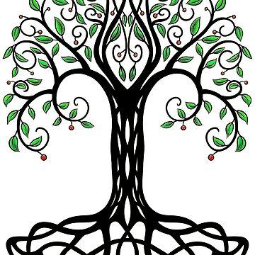 Yggdrasil Árbol de la Vida. de Hareguizer