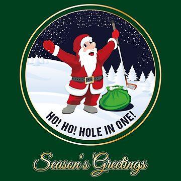 Santa Golf Season's Greetings for Golfer Golf Club Christmas Card by stearman