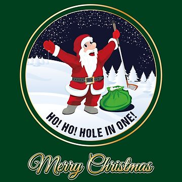 Santa Golf Greeting Card Merry Christmas Season Greetings Golfclub by stearman