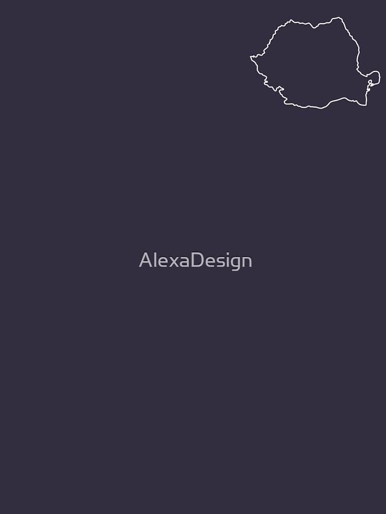 Romania map contour by AlexaDesign