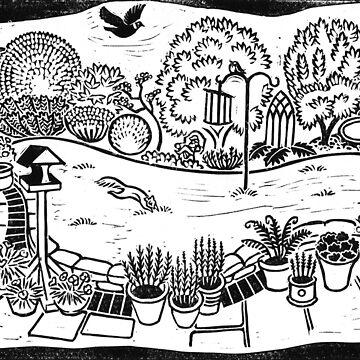 An English Garden in Winter by wonder-webb