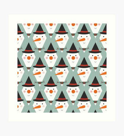 Snowmen Meltdown Art Print
