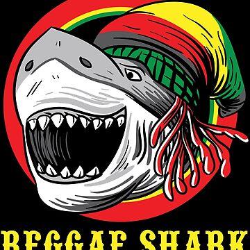 Reggae Shark Shirt Funny Rasta Cool Gift by WWB2017