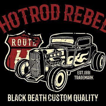 HotRod Rebel Car by EddieBalevo