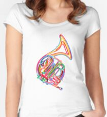 French horn Women's Fitted Scoop T-Shirt