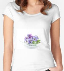 pansy 02 Women's Fitted Scoop T-Shirt