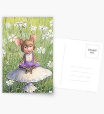 Mosely - cute little mouse-pixie Postcards