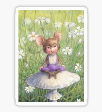 Mosely - cute little mouse-pixie Sticker