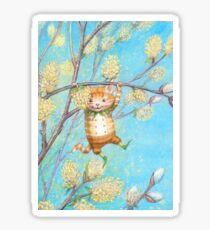 Catkin - cute pussy-willow-pixie Sticker