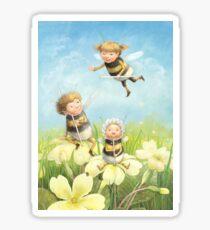 The Bimbles - Cute bee-pixie family Sticker