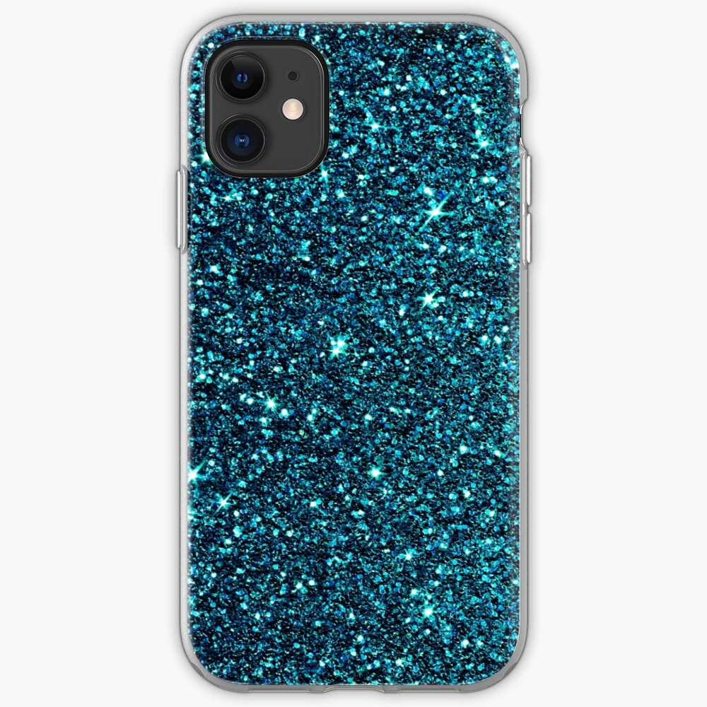 midnight blue sparkle iPhone Case & Cover