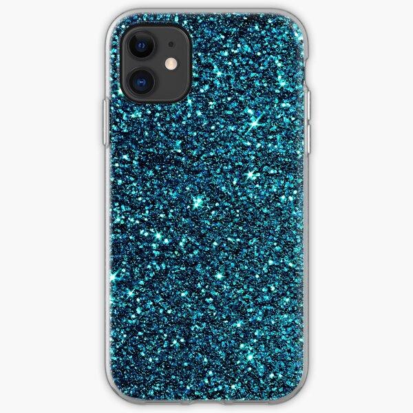 midnight blue sparkle iPhone Soft Case