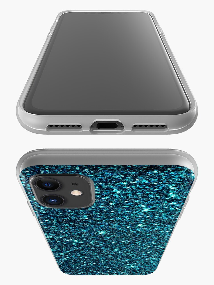 Alternate view of midnight blue sparkle iPhone Case & Cover