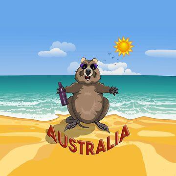 Australia!  Quokka on the Beach. by AmandaMLucas