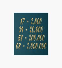 Gold 17 34 51 68 Seconds 2000 20000 200000 2000000 Version 3 Art Board