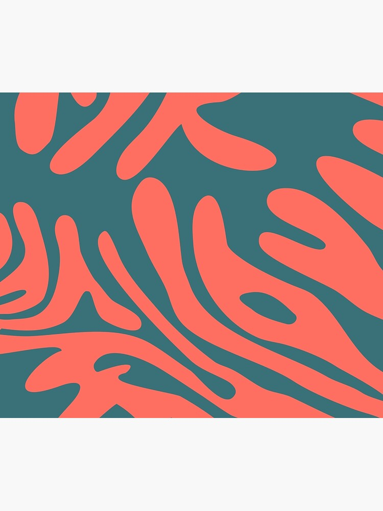 Living Coral in the Deep Sea - Pantone Color Trend 2019 by caligrafica