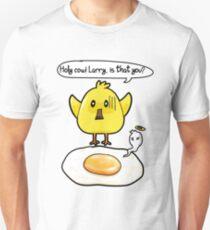 Hühnchen Spiegelei Huhn lustig Cartoon Comic Slim Fit T-Shirt