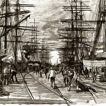 Williamstown Railway Pier, The Early Days of Melbourne's Harbour, Australia 1894 by ZipaC