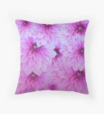 Pink Dahlias Flower Art Floor Pillow