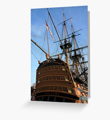 "HMS Victory - On ""Tall Ships"" List for challenge. Greeting Card"
