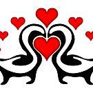 Skunks In Love by NiftyGaloot