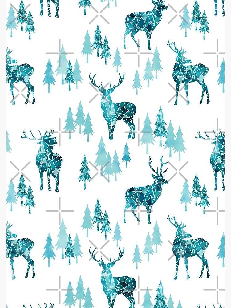 Ice Forest Deer by adenaJ