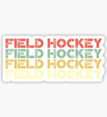 vintage field hockey - retro field hockey  Sticker