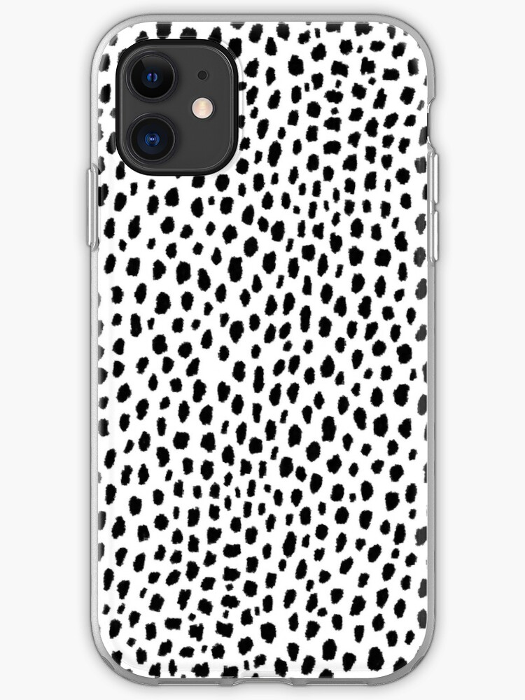 Preppy Spots Black and White Minimal Polka Dot Print iphone 11 case