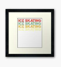 vintage ice skating - retro ice skating  Framed Print