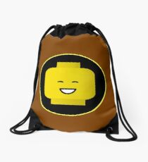 MINIFIG HAPPY FACE Drawstring Bag