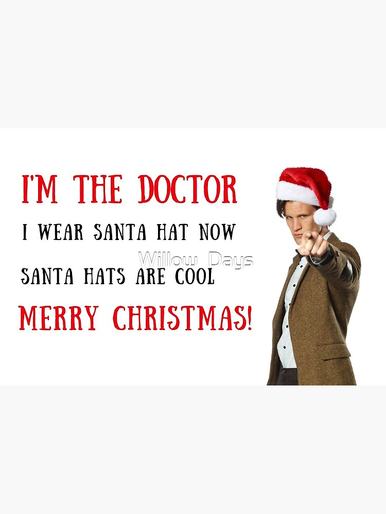 Doctor Who Christmas Cards.Doctor Who Christmas Quote Memes Santa Hat Gifts Presents Puns Banter Merry Christmas Sticker Packs Cool Mugs Meme Greeting Cards