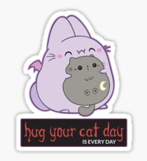 The Bunpire, Vampire Bunny Bat - Hug your cat day is everyday Sticker