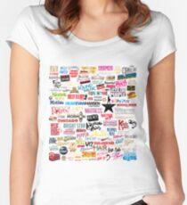Musicals Tailliertes Rundhals-Shirt