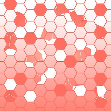 PANTONE COLOR OF THE YEAR 2019 SCATTERED HEXAGON OMBRE GRAPHIC DESIGN  by ozcushionstoo