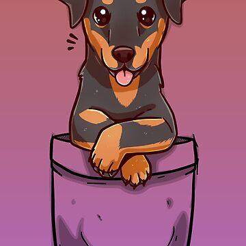 Pocket Cute Dobermann Dog by TechraNova