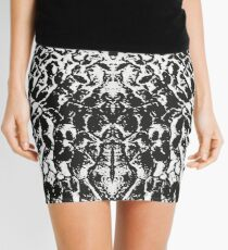 Sand Shadow - Black & White Mini Skirt