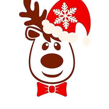 Christmas Reindeer T-Shirt by ArtiosApparels