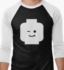Minifig Winking Head Men's Baseball ¾ T-Shirt
