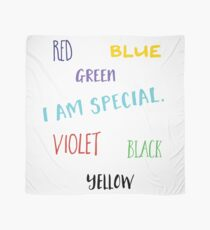 I am special funny colorful typography design Scarf